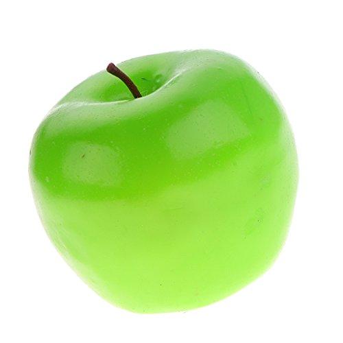 petsola Künstliche Dekorative Kunststoff Obst Home Decor Store Fotografie Prop - Grüner Apfel -