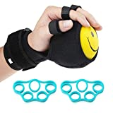 REAQER Finger Trainingsgerät, Finger Geräte Trainingsgeräte Ball Splint Hand Hemiplegie Rehabilitation Training Hand Einstellbare Finger Handgelenk orthotics Trainingsgerät