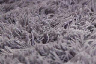 GRENSS 10 Dimensionen lange Plüsch Rutschsichere weiche Matte für Home Salon Schlafzimmer Wohnzimmer Shaggy verdicken Teppiche Fussmatte Teppich Tapete, Grau, 60 cm 160 cm