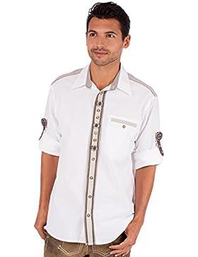 orbis Textil OS-Trachten Trachtenhemd 920146-101 Weiss