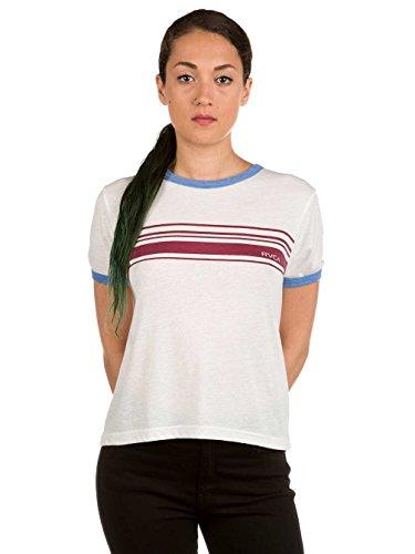 Damen T-Shirt RVCA Stripe Set T-Shirt Vintage White