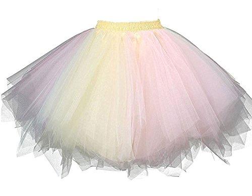 (HotQueen Women's 1950s Vintage Tutu Ballet Half Slip Skirt Bubble Dance)