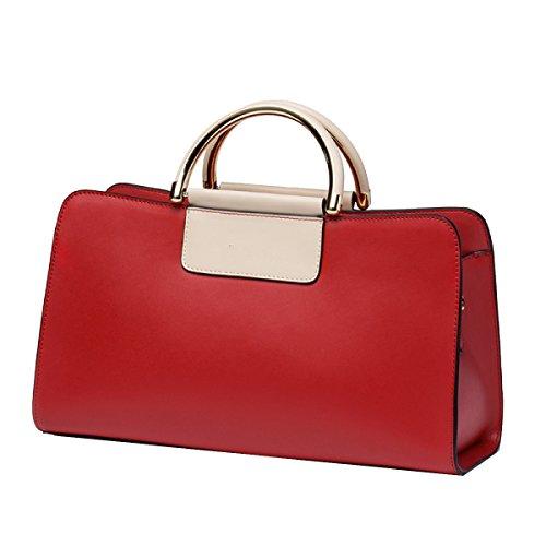 Borsa Yy.f Borse In Pelle Nuove Borsa Sacchetto Di Spalla Selvaggio Pacchetto Bag Signora Messenger 3 Colori Red