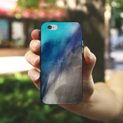 Apple iPhone X Silikon Hülle Case Schutzhülle Wasserfarbe Kunst Pinsel Silikon Case schwarz / weiß