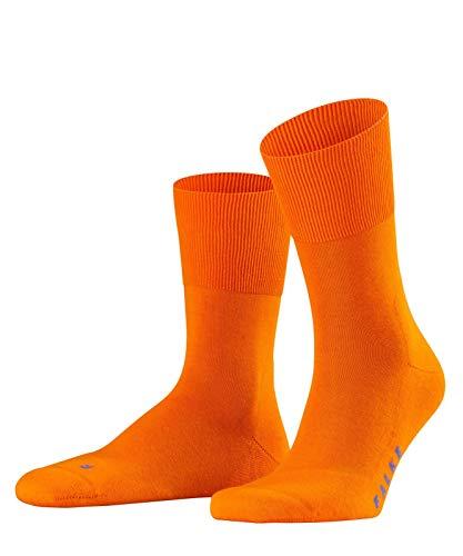 FALKE Run Ergo Unisex Baumwoll Strümpfe Einfarbig 1 Paar Freizeit Sport Socken, Blickdicht, Bright Orange, 42-43 -