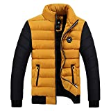 Luckycat Herren Winter Farbe Collision Cotton Jacket Verdickung warme Baumwolle gepolsterten Mantel Mode 2018