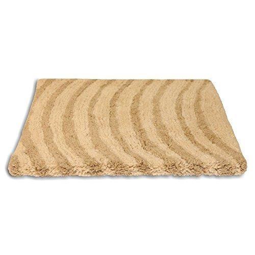 Waves Beige Crème BathMat tapis doux 100% coton 50 x 80cm - 20 \\