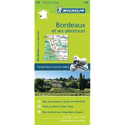 Carte Bordeaux et ses alentours Michelin
