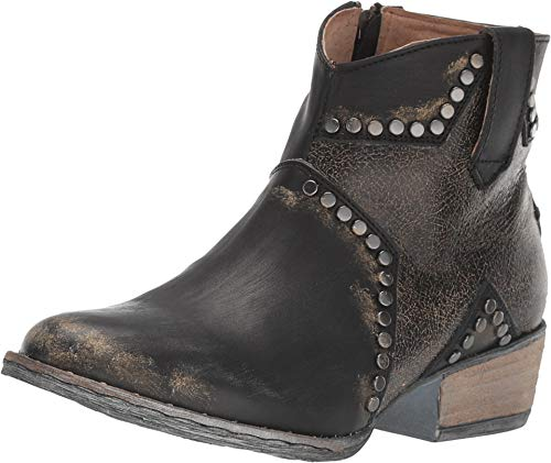 Corral Boots Womens Ld Star Inlay & Studs Ankle Boot