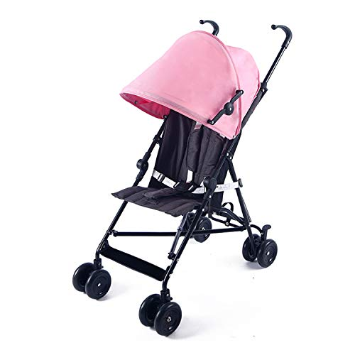 Zedelmaier kompakter, leichter Buggy mit Sonnenverdeck, aus pflegeleichtem Material (Pink)