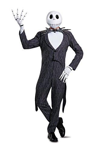 Shirt Skellington Jack Kostüm - Disguise Jack Skellington Prestige Mens Fancy Dress Costume 2X-Large