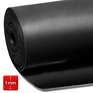 ETM – Gummi-Matte aus Naturkautschuk/SBK, 1mm, schwarz, 120cm, 10Größen, schwarz
