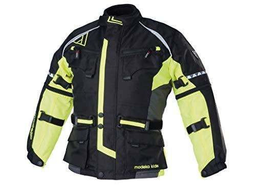 Modeka tourex Kids bambini giacca in tessuto–Nero Giallo