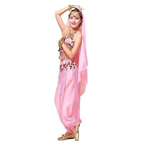 Tanz-Outfits Tanzkleidung Bauchtanz -Kostüm-Set Indian Dance Sexy Top&Indian Dance Sequins Pant Performance (Sexy Indian Outfits)