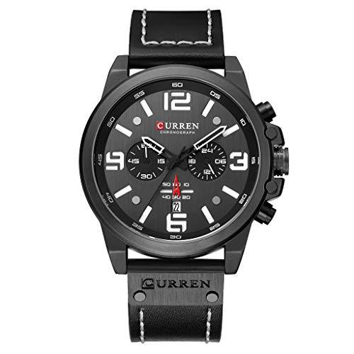 Huacat herrenuhr Edelstahl Business Gürtel Uhr wasserdicht Kalender Quarz Sechs Nadel Uhren Mode wasserdichte Chronograph