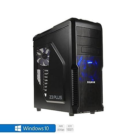 Sedatech PC Gamer Expert AMD Athlon II 860K 4x 3.70Ghz (max 4.0Ghz), Geforce GTX 1050 Ti 4Go, 8 Gb RAM DDR3 1600 Mhz, 1 To HDD, 250 Go SSD, USB 3.1, Wifi, CardReader, HDMI2.0, Résolution 4K, DirectX 12, Alim 80+. Unité centrale avec Windows 10 64 Bit