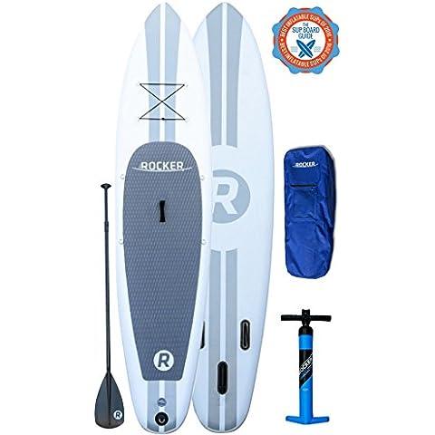 Tabla inflable de paddle surf iRocker, 335x76x15cm Conjunto SUP (Blanco)