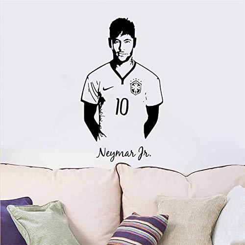 kleber Kinderzimmer Paris Club Football Player Aufkleber Wohnzimmer Schlafzimmer Dekoration Kunst Poster Wandbild 57 * 99 cm ()