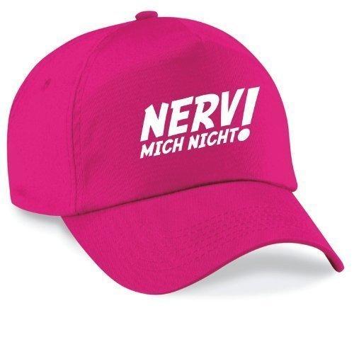Basecap NERV MICH NICHT! Cap Capy Größe Unisex, Farbe pink (Stein Twill Original)