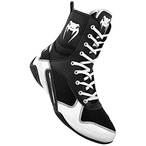 Venum Unisex-Erwachsene Elite Boxschuhe Schwarz/Weiß 108), 44.5 EU - Weiß Boxing Schuhe