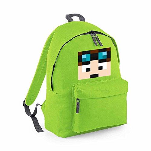 Apparel Printing Dantdm Dan The Diamond Minecart Face Player Skin Youtuber Fashion Backpack, Bright Green