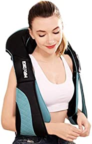 Cordless massager for neck shoulder and Back with Heat - Hands free Deep Tissue 3D Kneading Rechargeable Massa