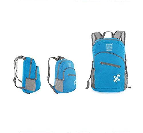 SZH&BEIB Outdoor-Rucksack Wasserdichte faltbare Nylon Ultra Light für Reit Tasche Klettern Wandern Wasser-Beutel B