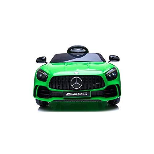 ATAA Mercedes GTR batería 12v - Coche eléctrico para niños con Mando Control Remoto - Verde