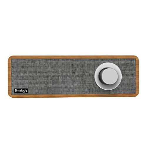 Enceintes Portables Bluetooth,AIni Mini Haut-Parleur StéRéO Avec Haut-Parleurs Sans Fil En Bois Portatifs Haut-Parleur Bluetooth-Sans Fil Musique(Taille Libre,Gris)