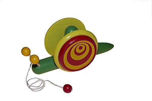 Juguetutto - Arrastre Caracol Gr. Arrastre de juguete grande con forma de caracol que se mueve según ma moviéndose el niño