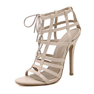 LvYuan scarpe del club sandali estivi microfibra abito tacco a spillo con lacci Pink