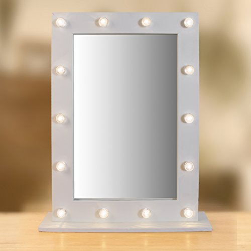 free standing mirror for dressing table full length cheval jewelry armoire with battery operated led marquee warm white cost