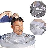 Panno per taglio dei capelli stereoscopico, mantello per parrucchiere, mantello, drappeggio, stereoscopico, traspirante, colore grigio