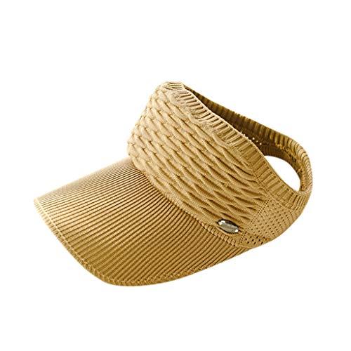 tdoor verstellbare Kappe Sommer Sonnencreme Sun Solid Hat schützenfest Halter Mesh-Mütze Khaki, Schwarz, Weiß, Rosa, Grau, Beige, Hellblau ()