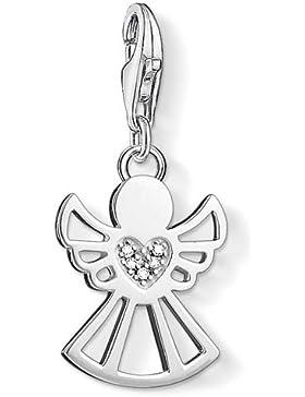 Thomas Sabo Damen-Charm-Anhänger Engel Charm Club 925 Sterling Silber Diamant weiß DC0029-725-14