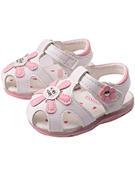 Igemy 1Paar Baby Kinder Kleinkind Sonnenblume Mädchen Sommer beleuchtete Soft-Soled Prinzessin Schuhe