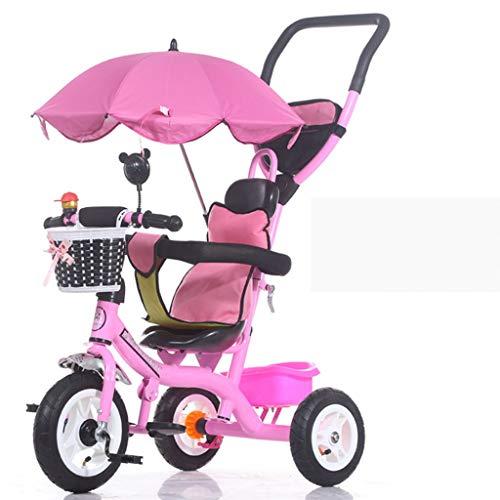 YEZXC Vélo bébé Enfant Tricycle vélo Poussette Enfants vélo vélo Poussette Enfant (Roues en Mousse, Roues pneumatiques) Cadeau pour Enfants