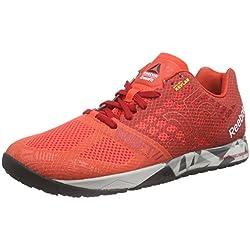 Reebok R Crossfit Nano 5.0 Zapatillas de Deporte, Rojo/Gris/Negro (Laser Red/Excllent Red/Steel/Shark/Black), 42 1/2