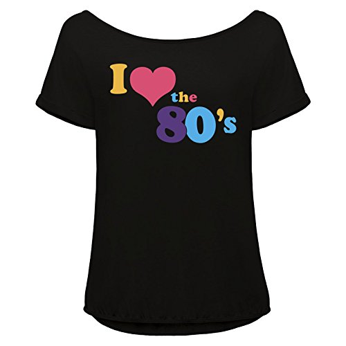 I Love The 80s Batwing Sleeve T-shirt Ladies - S to 2XL