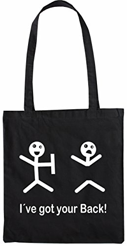 Mister Merchandise Tasche I´ve got your Back Stofftasche , Farbe: Schwarz Schwarz