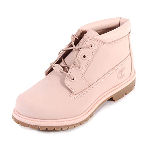 Timberland Women s Nellie Chukka A1S7S Nubuck Ankle Boot Chintz Rose-Rose-4