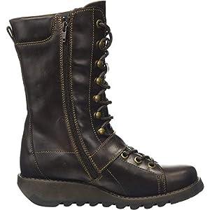 Fly London Women's SELU526FLY Combat Boots, Brown (Dk.Brown 001), 2.5 UK (35 EU)