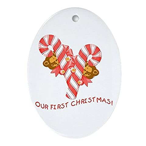 CafePress - TWINS Or Multiples Our First Christmas Ornament (O - Oval Holiday Christmas Ornament