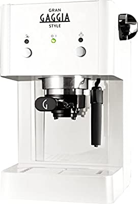 Gaggia RI8423 Espresso machine 1L White - coffee makers (freestanding, Manual, Espresso machine, Coffee pod, Ground coffee, Coffee, Espresso, White)