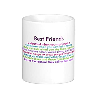 HURKI Best Friends, understand when you say forget it... Classic White Coffee Mug by HURKI