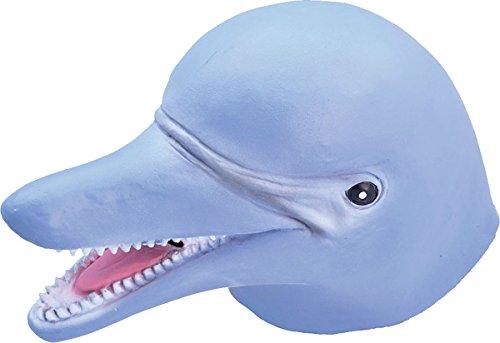 Onlysportsgear Erwachsene Karneval Dschungel Party Halloween Weihnachten Weihnachten Tier clubwear Cosplay Maske - Delfin, One size