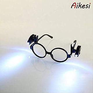 Aikesi 1PC Reading Glasses with LED Reading Glasses Presbyopia Rectangular Illuminated