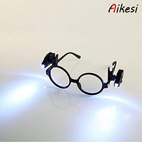 6d1030f81f Aikesi 1 PC Gafas de Lectura con luz LED Gafas de Lectura presbicia  rectangulares iluminadas (