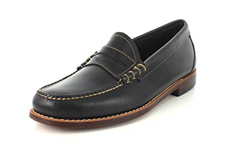 GH Bass & Co Larson Rund Leder Slipper Black/Black