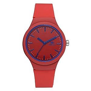 Armbanduhr mit Bunter Zifferblatt Silikon Armband,Frauen Sport Uhren,Damen Uhr mit Silikon Armband Kinder Uhr